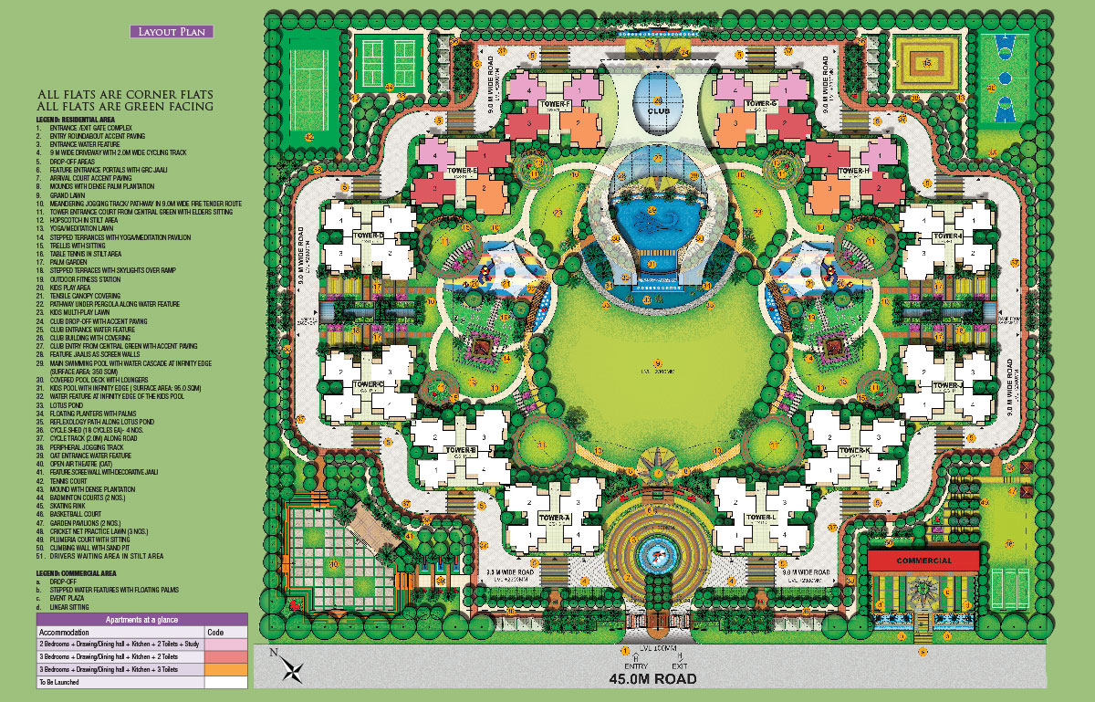 samridhi luxuriya avenue site plan